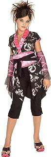 Girls Pink Ninja Asian Japanese Kimono Costume - Child Medium