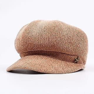 Hat Japanese-Style Cap Fall-Winter Literature Shanil Beret College Style Plain Octagon Cap` TuanTuan (Color : Brown, Size : Adjustable)