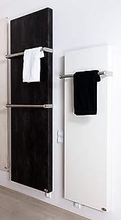 Calefactor de baño por infrarrojos con soporte para toallas (1060 W, 2000 x 640 x 10 mm), color crema y blanco