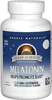 Source Naturals Sleep Science Melatonin 1mg Peppermint Flavor - 300 Lozenges