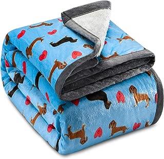 Best dachshund fleece throw blanket Reviews