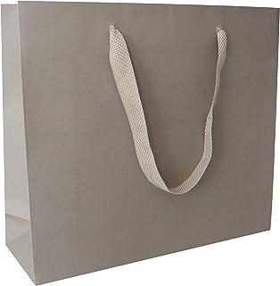 riporre prodotti e come party bag per ringraziare gli invitati di compleanno Road Sacchetti di carta kraft con manici per fare la spesa 14 x 8,5 x 20,5 cm confezione da 100 pezzi