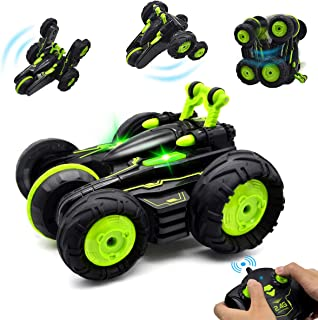 BIBIELF RC Cars Stunt Car Toy, 4WD 2.4Ghz Remote Control Car Fancy Double Sided Rotating Vehicles 360° Flips, Kids Toy Car...