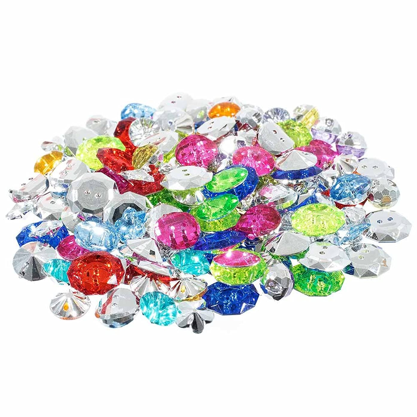 Assorted Small Plastic Jewel Button Pack – Multiple Colors, Styles, and Sizes – Crafting, Scrapbooking, and More