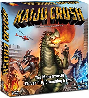Fireside Games Kaiju Crush Board Games - Board Games for Families - Board Games for Kids 7 and up