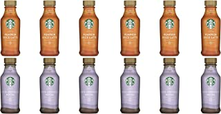LUV BOX- Variety Starbucks Iced Latte Pack 14oz Plastic Bottle, 16ct,Pumpkin Spice Iced Latte LTO,White Chocolate Mocha Iced Latte