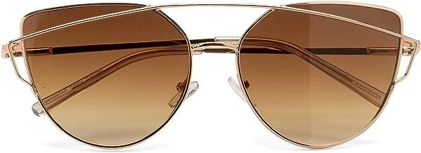 Cat Eye Sunglasses for Woman-Vintage Retro 90s colored black, Women's Men's cateye fashion, festival rave, sunglasses (gold frame/brown lens)