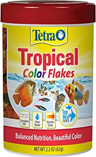 TetraColor Tropical Flakes Fish Food with Natural Color Enhancer (Top/Mid Feeders) 62g