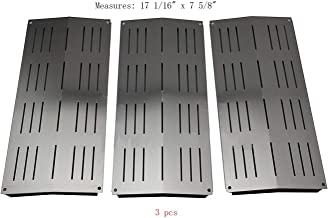 BBQ Mart SP7441(3-pack) Stainless Steel Heat Plate Replacement for Select Bakers and Chefs, Sams, Charbroil, Grand Cafe and Other Gas Grill Models