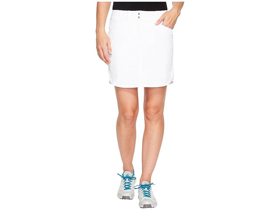 adidas Golf Essentials 3-Stripe Skort (White) Women