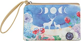 Casmonal Womens Mens Coin Change Purse Pouch Zippered Wallet Make Up Cellphone Bag with Strap