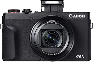 كاميرا كانون باور شوت G5 X Mark II الرقمية مع مستشعر شاشة 1 انش، وخاصية واي فاي ان اف سي، اسود
