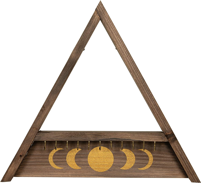 Rustix Rustic Bargain Wooden latest Hanging Jewelry Triangle Organizer She Wall