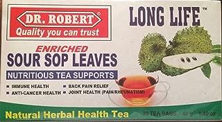 DR. ROBERT Sour Sop Leaves Natural Herbal Health Tea 20 Tea Bags