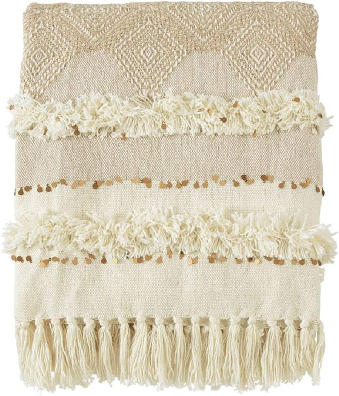 Mud Pie Sequin Fringe Blanket