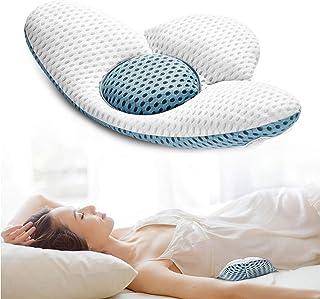 Beejirm Almohada Lumbar Columna Lumbar Ortopédica, Almohada Lumbar para Dormir, Almohada Trasera de Malla 3D Soporte Lumbar para Dolor de Cadera o Pierna de Lschia Embarazo