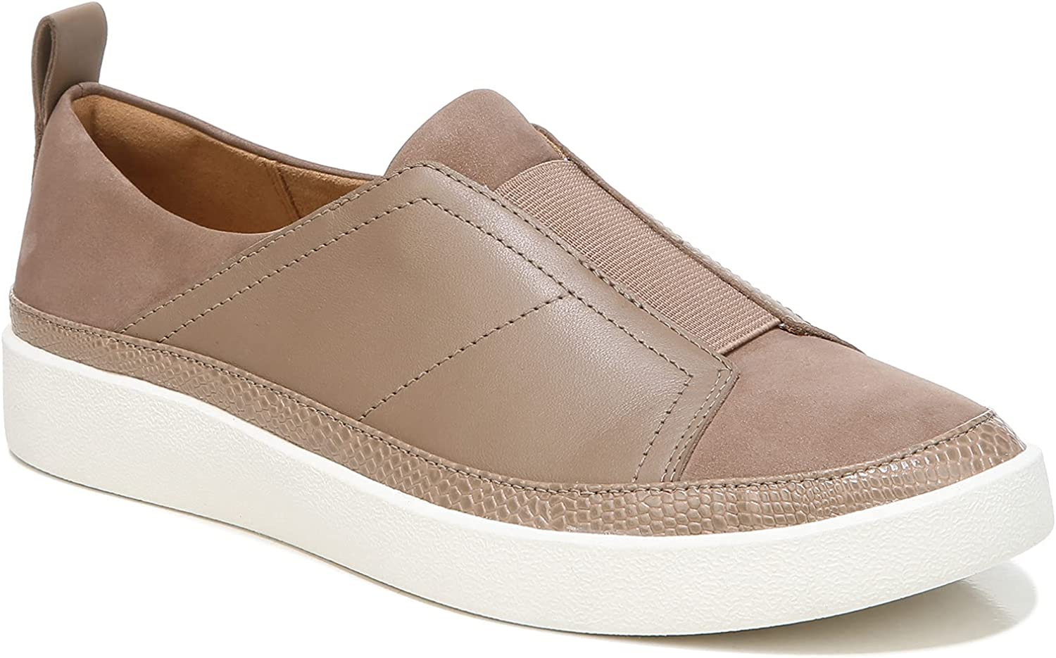 Vionic Women's Essence Zinah Platform Slip-on Fashion Sneaker- Leather Shoes That Include Three-Zone Comfort with Orthotic Insole Arch Support, Medium Fit