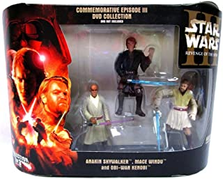 Star Wars Commemorative Episode III Revenge of the Sith DVD Collection 3-Pack Anakin Skywalker, Mace Windu and Obi-Wan Kenobi
