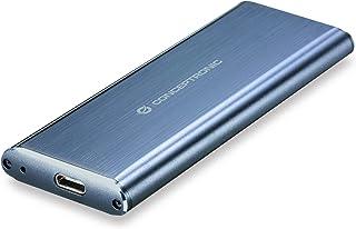 Conceptronic HDE01G M.2 SSD Enclosure Gris - Disco Duro en Red (M.2, M.2, SATA, Serial ATA II, Serial ATA III, 1 TB, 3.0 (3.1 Gen 1), USB Tipo C, SSD Enclosure)