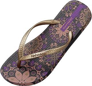 Hotmarzz Women's Flip Flops Bohemia Floral Print Sandals Beach Slippers