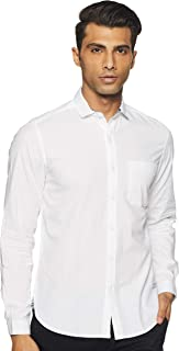 John Players Men's Solid Slim fit Casual Shirt