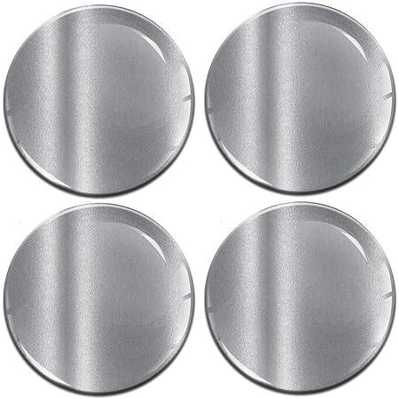 Biomar Labs 4 X 55mm Aufkleber 3d Silikon Silber Für Radkappen Nabenkappen Radnabendeckel Rad Aufkleber Nabendeckel A 9755 Küche Haushalt