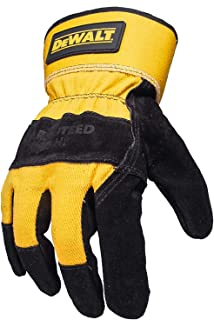 Dewalt DPG41 Premium Split Cowhide Lather Palm Glove Black/Gray