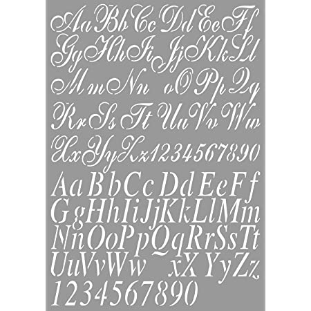 Dutch Doobadoo 470.455.002 Pochoir Motif lettres A4 2