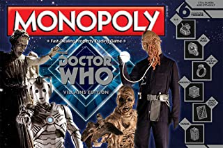 USAOPOLY Doctor Who Villains Edition Monopoly Board Game