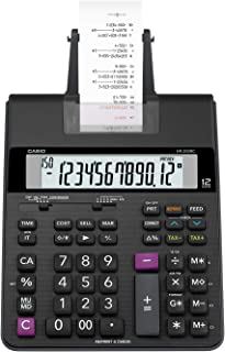 Casio Office Products HR-200RC Mini-Desktop Printing Calculator, Black