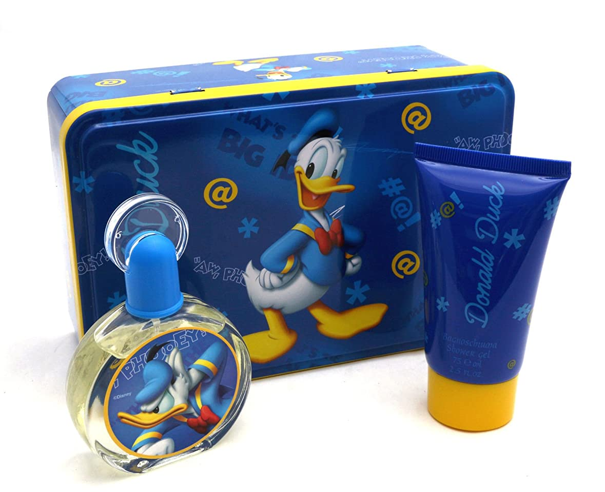 美徳作りピットDonald Duck (ドナルドダック) 1.7 oz (50ml) EDT Spray + 2.5 oz (75ml) Shower Gel by Disney