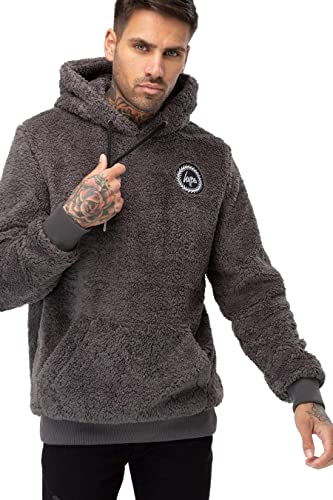 Hype Sweat à Capuche sweat à capuche Homme Sherpa Anthracite