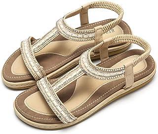: Beige Sandales mode Sandales et nu pieds
