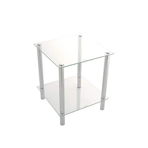 Glass Side Tables for Living Room: Amazon.co.uk