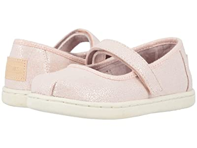 TOMS Kids Mary Jane (Toddler/Little Kid) (Pink Iridescent Droplets) Girl