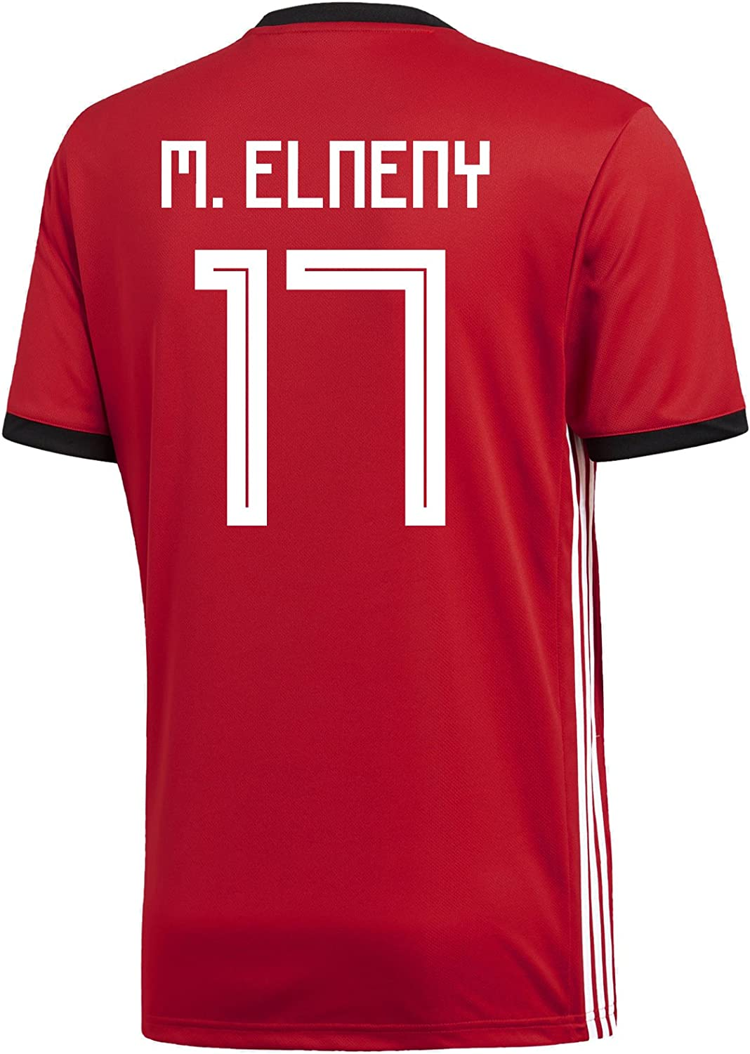 Adidas M. ELNENY  17 Egypt Home Men's Soccer Jersey World Cup Russia 2018