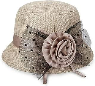 Women Spring and Summer Linen Sunshade Hat Ladies Sun Cap