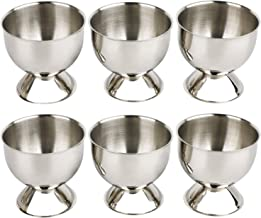 Egg Cup Tray Stainless Steel Soft Boiled Egg Cups Holder Stand