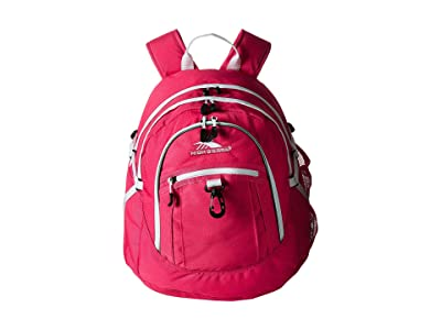 High Sierra Fatboy Backpack (Pink Punch/White) Backpack Bags