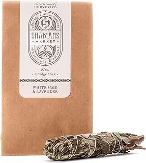 Shamans Market White Sage & Lavender Smudge Stick - Mini