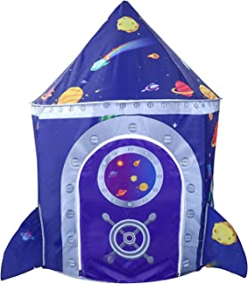 Vimpro Play Tent for Kids, Rocket Ship Playhouse Planet Design and Brilliant Appearance with Storage Bag, Spaceship Kids Play Tent Great for Toddlers, Indoor & Outdoor Use, Improve Imagination