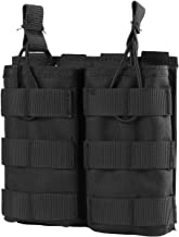 OneTigris Tactical MOLLE Double Open-Top Mag Pouch for AR M4 M16 HK416 Magazines