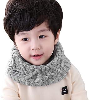 男童女童时尚冬天围巾针织史努德无限型管状围巾