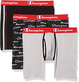 Champion Men's Everyday Comfort Cotton Stretch Boxer Briefs 3-Pack
