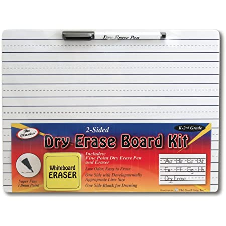 The Classics Dry Erase Whiteboard Kit Complete Set with 11.75 x 9 Inches Board, Black Dry Erase Pen and Eraser (TPG-388), White