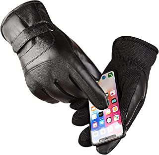 Touch Screen Winter Snow Gloves Waterproof & Windproof for Motorcycle,Cycling,Riding,Snow Sports, -20°F Cold Proof Cold Weather Gloves Warm Thermal Gloves for Men and Women Black