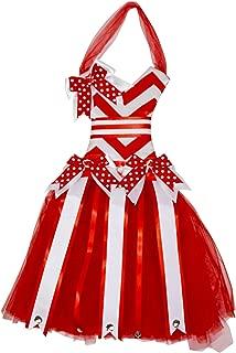 Chevron Tutu Dress Hair Bow Holder (Red)