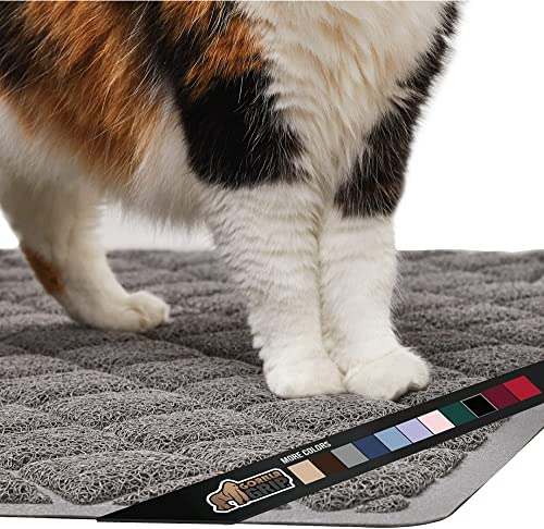 Gorilla Grip Original Premium Durable Cat Litter Mat, Traps Litter from Box and Cats, Scatter Control, Mats Soft on K...