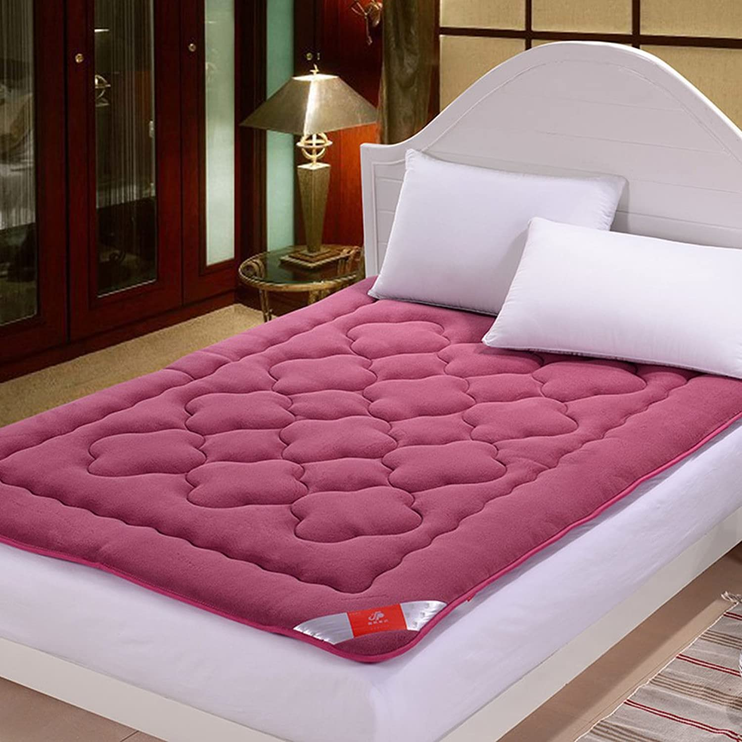 Coral Velvet Thickening Mattress,Mattress,Tatami Single Double Soft Mattress Mat-A 135x200cm(53x79inch)