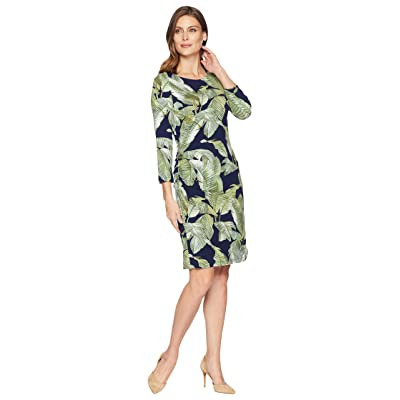 Tommy Bahama Fiesta Palms Shirred Dress (Ocean Deep) Women